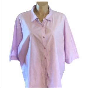 Woman Within 3X Lilac Shirt. 100% Cotton